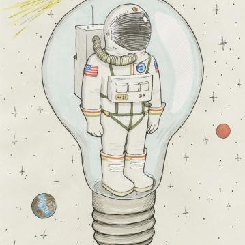 """un astronauta solo"""