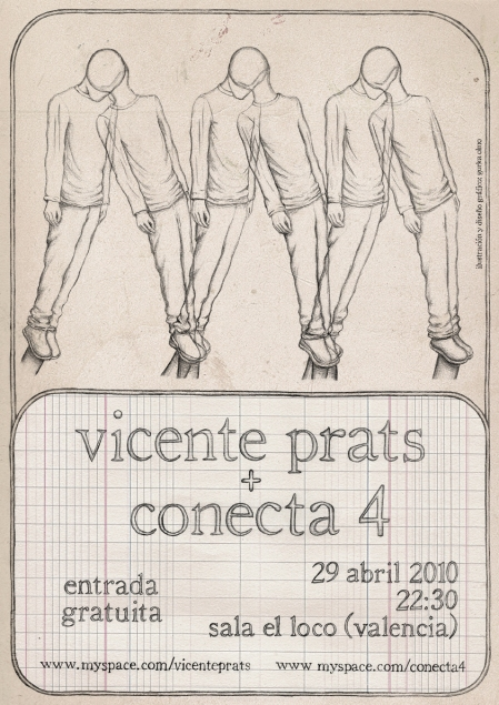 cartel de concierto para vicente prats y conecta 4